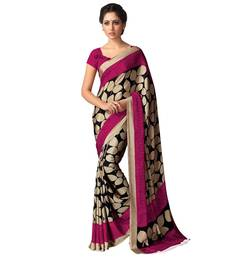 Buy Beige printed georgette saree With Blouse party-wear-saree online