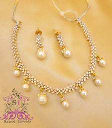 Buy Elegant Pearl Necklace Set  Necklace online