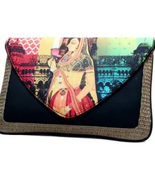 Buy Craftstages Leather & Jute Ethnic Bag sling-bag online