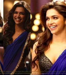 Deepika Padukone, Royal Blue, Georgette Saree Tm-9 shop online