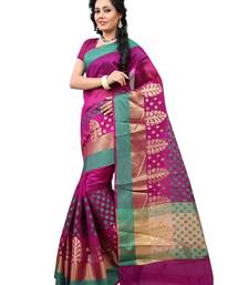 Buy Purple woven cotton saree With Blouse cotton-saree online