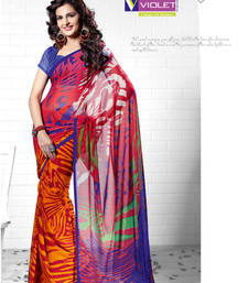 Buy Graceful combination saree printed-saree online