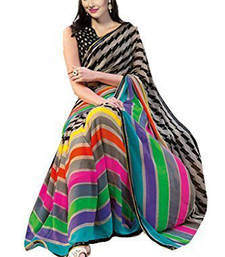 Buy multicolor printed bhagalpuri_silk saree With Blouse bhagalpuri-silk-saree online