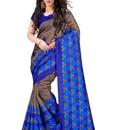 Buy Blue multicolor printed bhagalpuri silk saree With Blouse bhagalpuri-silk-saree online