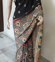 Buy PEN KALAMKARI SAREE crepe-saree online
