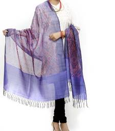 Buy HAND WOVEN IKAT SILK DUPATTA stole-and-dupatta online