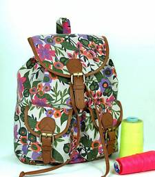 Buy Floral Canvas Backpack backpack online