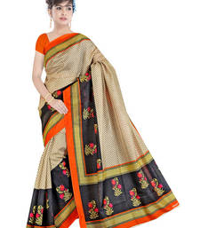 Buy Mutlicolur  Silk Fashion saree  with Blouse silk-saree online