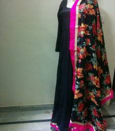 Buy Black silk designer dress anushka-sharma-saree online