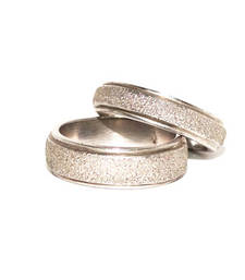 Buy Cara sterling silver and  certified Swarovski stone You and me Silver Couple Bands engagement-gift online
