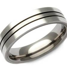 Buy Cara sterling silver and  certified Swarovski stone Simple Silver Ring for Him gifts-for-him online