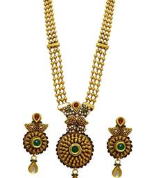 Buy Traditional pendent multicolour necklace set for women necklace-set online