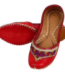 Buy Red leather footwear footwear online