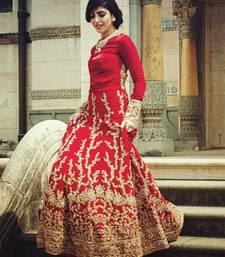 Buy Red banglori semi stitiched salwar with dupatta dress-material online