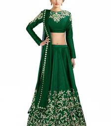 lehenga-choli by voovilla (Green and black) shop online