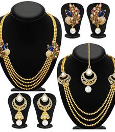 Buy Fine Gold Plated Set of two Necklace Set Combo For Women jewellery-combo online