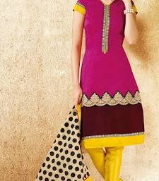 Buy Awesome Straight Chanderi Suit salwars-and-churidar online