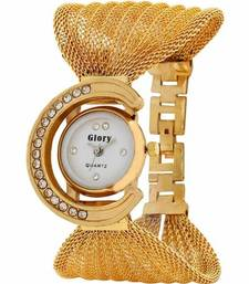 Buy New Fashion Casual Golden color watch Famous Brand Quartz Watch Wristwatch watch online