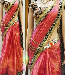 Buy red embroidered art silk saree With Blouse silk-saree online