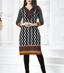 Buy Multicolor cotton printed unstitched kurti cotton-kurti online