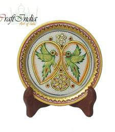 Buy eCraftIndia Parrot Decorative Marble Plate other-home-accessory online