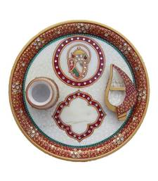 Buy eCraftIndia Pooja Thali with Ganesha and Diya other-home-furnishing online