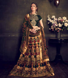 Buy Multicolor banglori silk digital printed unstitched lehenga choli multicolor-lehenga online