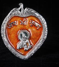 Buy Bal Gopal Wall Hanging in enamel and Silver coated metal. MuHeNeRa presents Athish collection 568 wedding-gift online