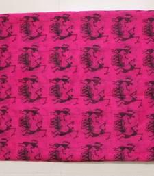 Buy Pink Organza Worli Print Saree organza-saree online
