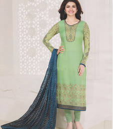 Buy Green georgette embroidered semi stitiched salwar with dupatta eid-special-salwar-kameez online