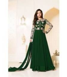 Buy green georgette embroidered semi stitiched salwar with dupatta anarkali-salwar-kameez online