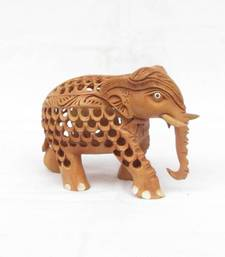 Buy eCraftIndia Wooden Mother Elephant with Baby Elephant other-home-furnishing online