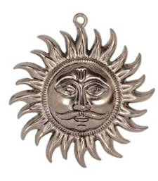 Buy eCraftIndia Decorative Wall Hanging of Sun other-home-accessory online