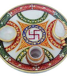 Buy Marble Puja Thali other-home-accessory online