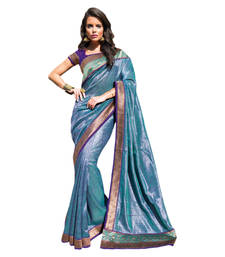 Buy Vishal Blue Art Silk Saree  TheCourtYard31518 silk-saree online