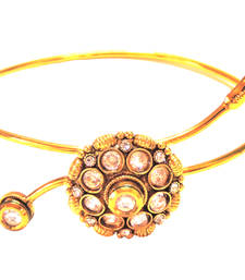 Buy Traditional Gold Plated Copper Bajuband For Women (Navratri Special) bajuband online