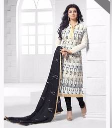 Buy Multicolor chanderi embroidered semi stitched salwar with dupatta ayesha-takia-salwar-kameez online