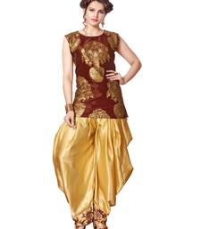 Buy indo western dhoti pant with jacket (Maroon and cream) indowestern online