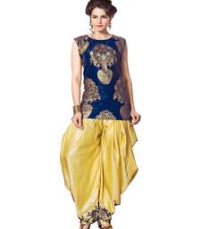 Buy indo western dhoti pant with jacket (Blue and cream) indowestern online