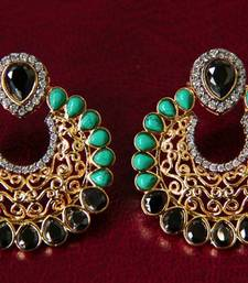 Buy Turquoise & Black Filigree Earrings stud online