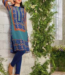 Buy Multicolor Georgette printed stitched kurti georgette-kurti online