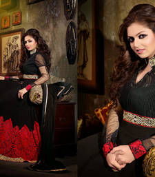 Buy Madhubala Bollywood Style Black Colour Faux Georgette Salwar Kameez  By Fabfiza anarkali-salwar-kameez online