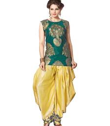 Buy indo western dhoti pant and jacket by kmozi (Green and cream) indowestern online