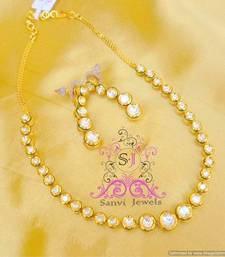 Buy Single Line Kundan Meenakari Necklace necklace-set online