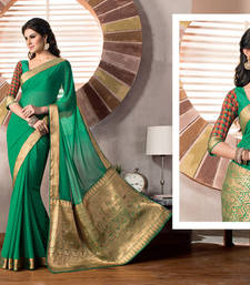 Buy 2 States By Vishal Green Georgette Saree  From 2 States Movie 32609 Saree online