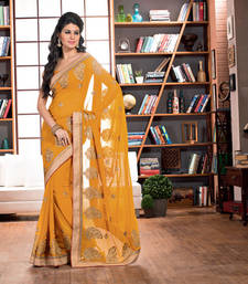 Buy 2 States By Vishal Yellow Georgette Saree  From 2 States Movie 32624 Saree online