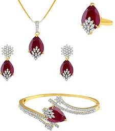 Buy Pendant and bracelet combo with ring necklace-set online