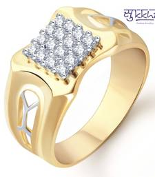 Buy Sukkhi Gold and Rhodium Plated CZ Ring for Men(104GRK680) gifts-for-him online