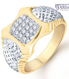 Buy Sukkhi Gold and Rhodium Plated CZ Ring for Men(109GRK600) gifts-for-him online