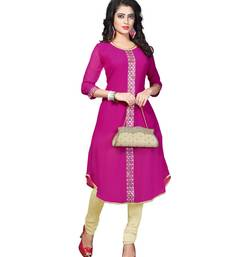 Buy Pink embroidery georgette fashion Kurti georgette-kurti online
